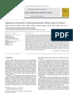 Aggregation and Gelation in Hydroxypropylmethyl Cellulose Aqueous Solutions