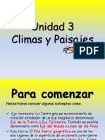 Clima y Paisajes