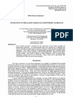 Estimation of the Elastic Moduli of Lightweight Aggregate
