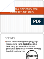 Definisi & Epidemiologi Diabetes Melitus