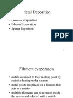 Metal Deposition