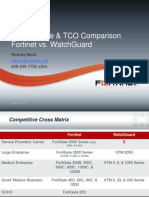 Competitive Analysis- Fortinet vs WatchGuard Performance and TCO