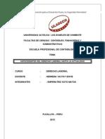 TRABAJO Historia Del Derecho Laboral Trabajo PERU
