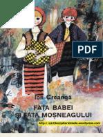 FATA BABEI SI FATA MOSNEAGULUI - Ion Creanga (Ilustratii de Stefan Nastac, 1982)