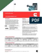 Cummins NTA855-G4 Specifications Sheet