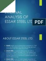 Internal Analysis of Essar Steel Ltd