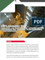 03. DIPLOMADO EN GESTIÓN DE COSTOS DE OPERACIONES UNITARIAS EN MINERÍA SUBTERRÁNEA Y SUPERFICIAL