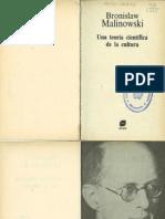 Bronislaw Malinowski - Una teoría científica de la cultura