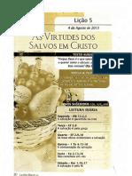 As Virtudes Dos Salvos Em Cristo=38.o