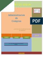 Antologia de Administracion de Compras LAE VI Mixto 28 Enero Al 18 Feb 2013