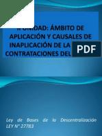 UNIDAD II-AMBITO DE APLICACIÓN Y CAUSALES DE INAPLICACIÓN DE LCE