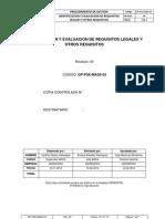 Gp-pge-mass-03 Identificacion y Evaluacion de Requisitos Legales y Otros