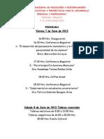 5to Congreso Nacional de Psicologia y Psicopedagogia 2013