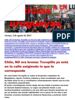 Noticias Uruguayas Viernes 2 de Agosto Del 2013