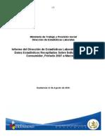 Informacion Sobre Los Indices Del Precio Al Consumidor- Periodo 2007 Al Marzo 2009