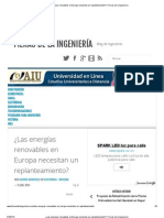 ¿Las energías renovables en Europa necesitan un replanteamiento_ _ Fieras de la Ingeniería
