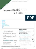 Los beneficios económicos de los edificios de energía cero _ Fieras de la Ingeniería