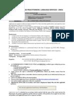 Position as freelance language practitioner at Unisa Language Services