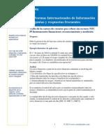 Venta de la cartera de cuentas por cobrar sin recurso NIC 39 Instrumentos financieros