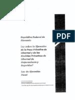 LEY DE EJECUCIÓN DE LA PENA ALEMANA.