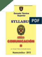 Syllabus de Comunicación II - EST - EDITADO