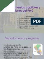 Departamentos, Capitales y Regiones Del Per