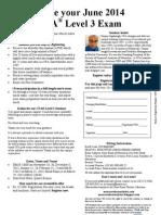 June 2014 CFA L3 MRU Reg Form Nov-Mar