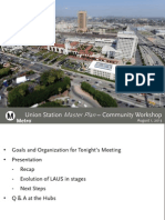 Los Angeles Union Station Master Plan community workshop Aug. 1