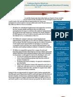 Pathways Back to Work Fact Sheet July 2013