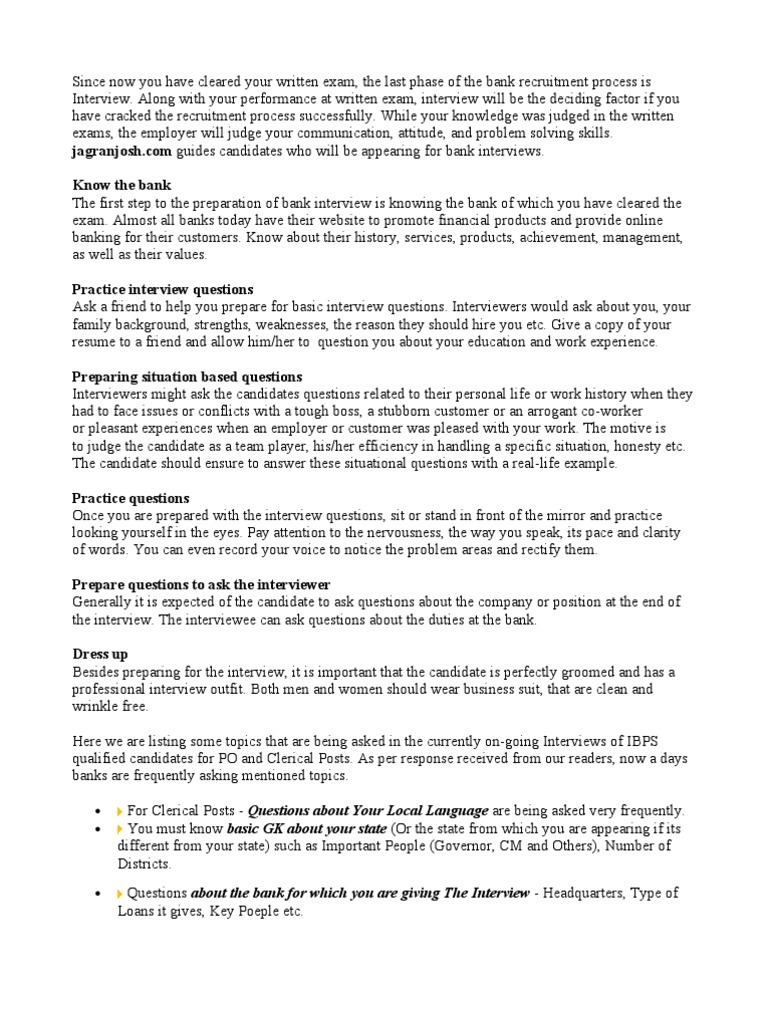 Bank Interview Questions Anger Test Assessment Free 30 Day