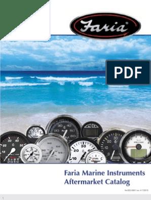 "New Dress White Series faria Instruments 13113 2/"" Cyl Head Temp 60-220 F w//send"