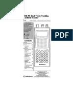 Radio Shack Pro-95 Scanner Manual