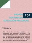 PROPÓSITOS Y CONTENIDOS DE LA EDUCACIÓN PREECOLAR