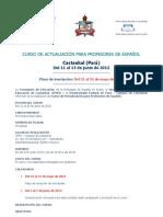 Convocatoria Curso Espanhol Castanhal 2012