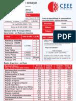 Taxas e Servicos Janeiro 2013