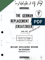 The German Replacement Army (Ersatzheer) April 1944
