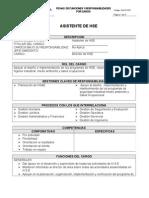 DESCRIPCIÓN DE PUESTO - Asistente de HSE