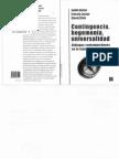 Butlerlaclau y Zizek - Contingencia Hegemonia Universalidad