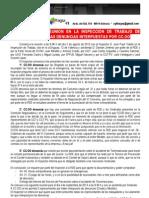 Reunión del 02-08-2013 en la Inspección de Trabajo sobre Denuncias de CCOO