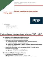 Tema 7- La Capa de Transporte. Protocolos UDP y TCP