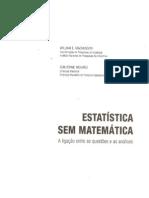 Livro Estatística Sem Matemática