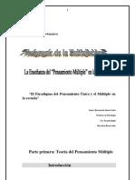 Teoría del Pensamiento Múltiple -monografía 11p