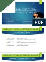 Establishing haldiram in china/ hongkong