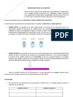 Guia N°5 Cambio Quimicos y Fisicos 7 basico
