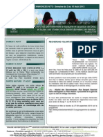 Bulletin d'annonces N° 70 Semaine du 3 au 10 aout 2013