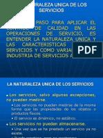 La Naturaleza Unica de Los Servicios