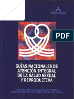 Guías nacionales de atención integral de la salud sexual y reproductiva