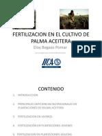 Fertilizacion Cultivo Palma Aceitera