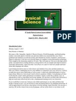 9th grade physical science course syllabus