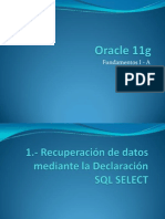 Oracle 11g T1a